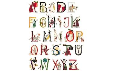 Wall-Art Wandtattoo »Kinderzimmer Blumen Alphabet« kaufen