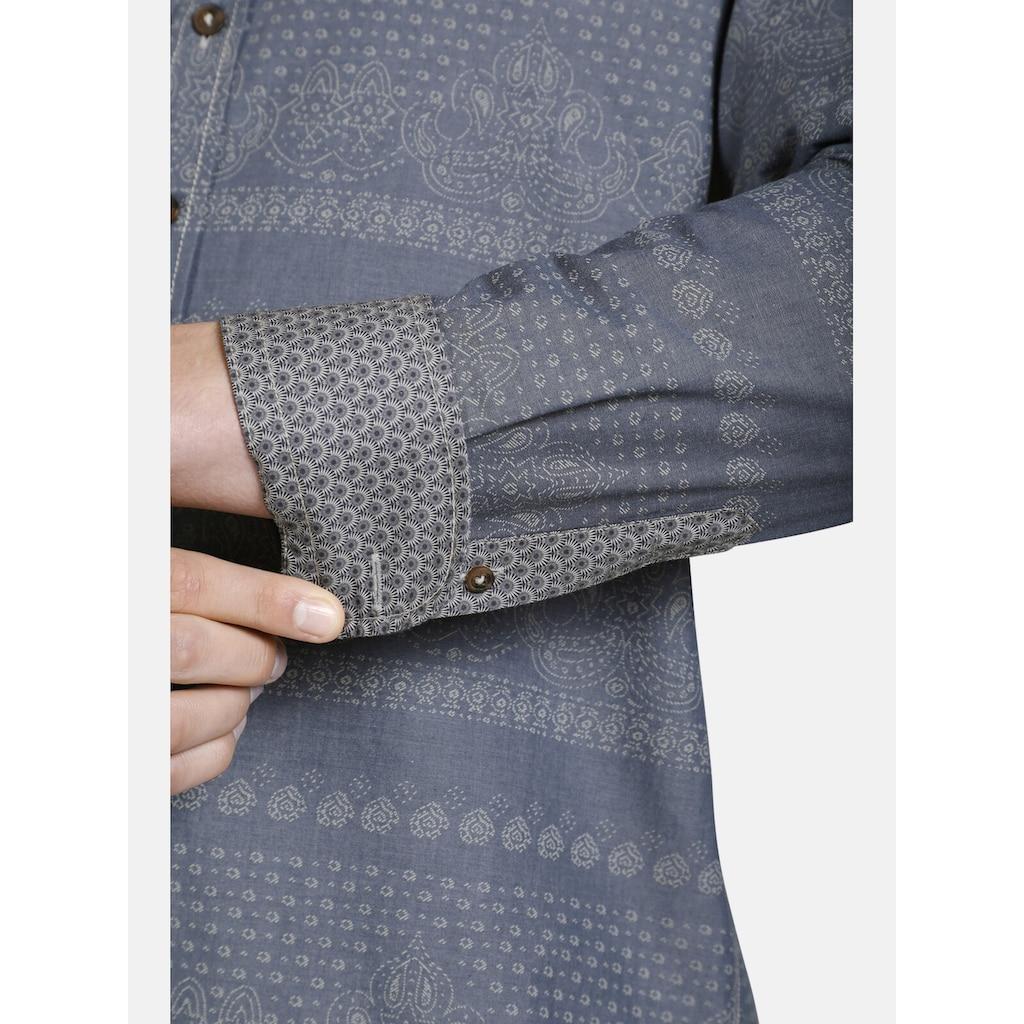 SHIRTMASTER Langarmhemd »strongethnostyle«, gedrucktes Ethno-Muster