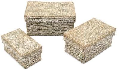 Franz Müller Flechtwaren Aufbewahrungsbox, (Set, 3 St.), aus Seegras, mit Deckel kaufen