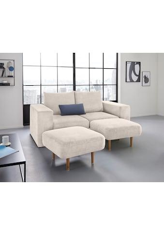 LOOKS by Wolfgang Joop 2,5-Sitzer, Verwandlungssofa: aus Sofa wird Sofa mit 2 Hockern kaufen