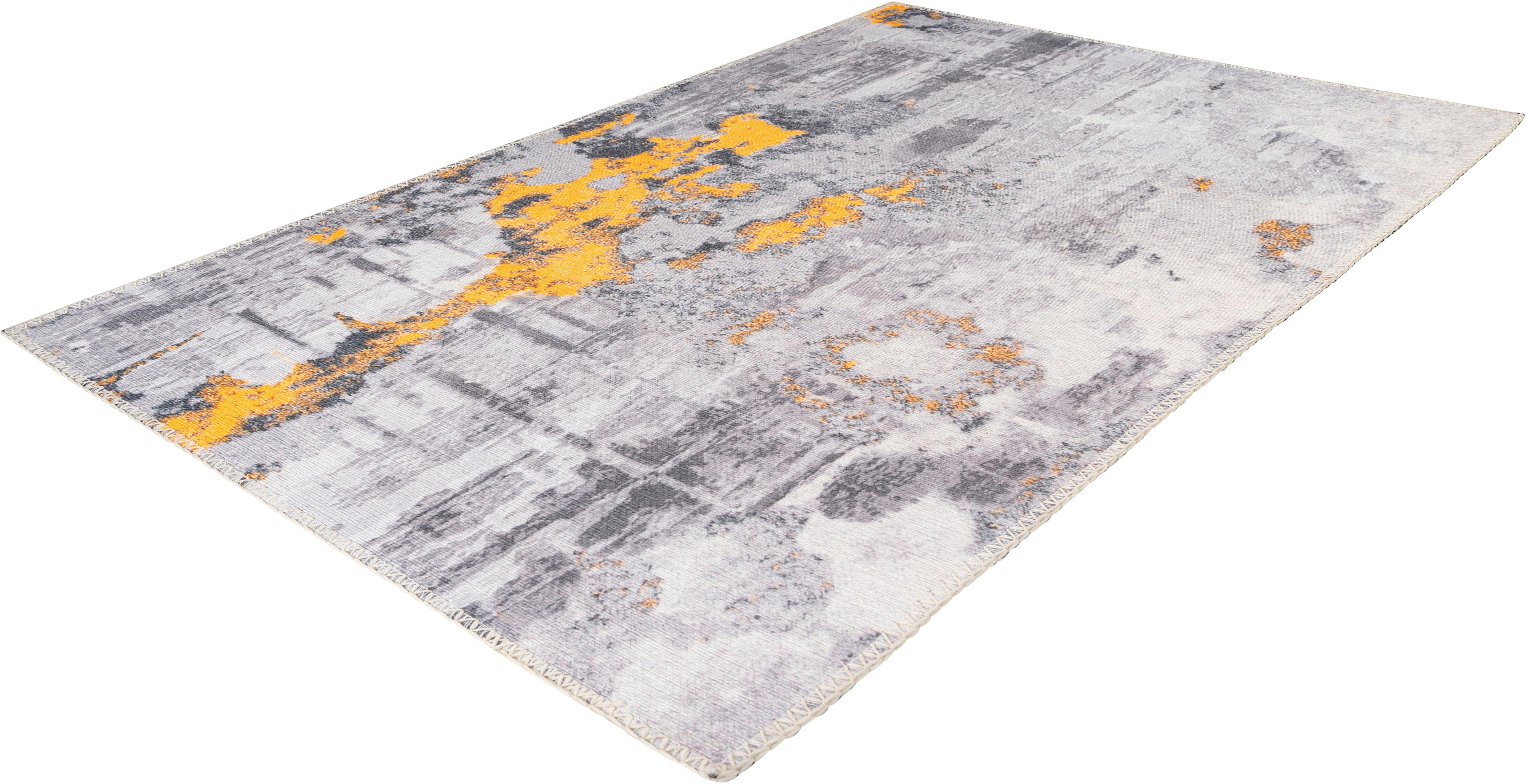Arte Espina Teppich Peron 300, rechteckig, 5 mm Höhe grau Esszimmerteppiche Teppiche nach Räumen