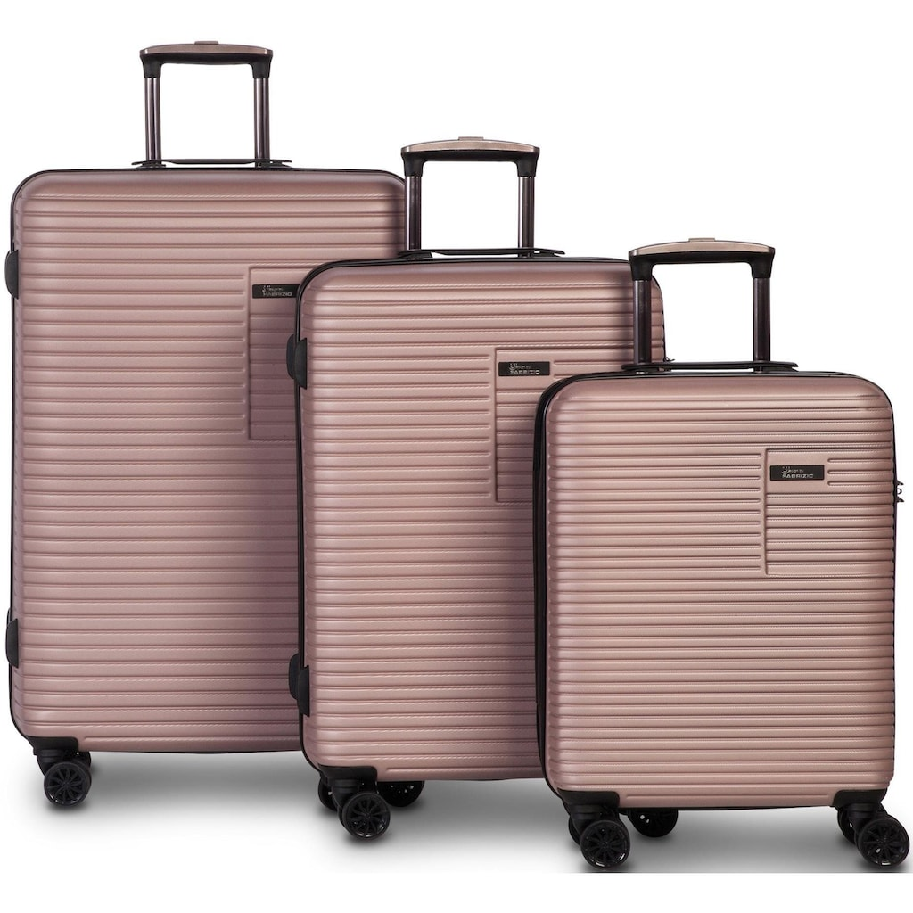 fabrizio® Trolleyset »Breeze, rosa«, (3 tlg.)