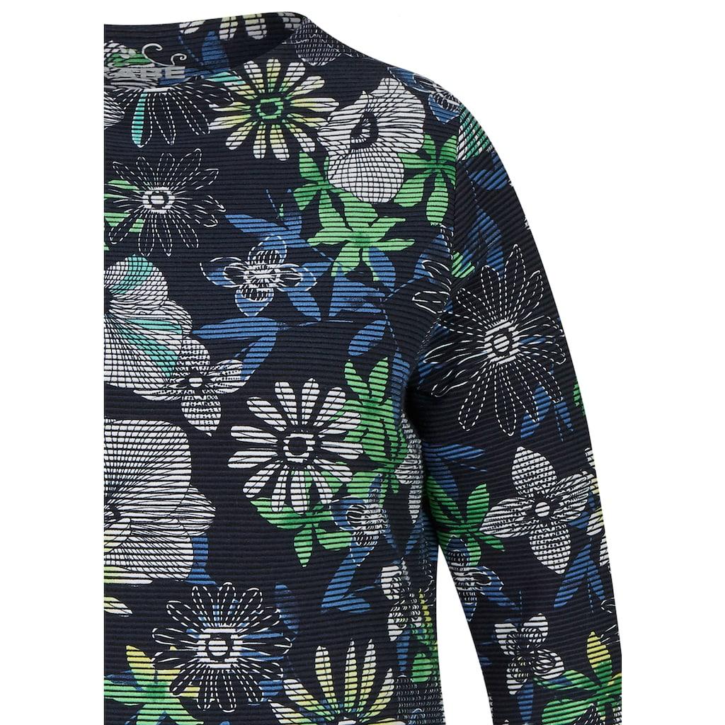 Rabe Shirt mit geblümtem Allover-Muster und Ärmeln in 3/4-Länge