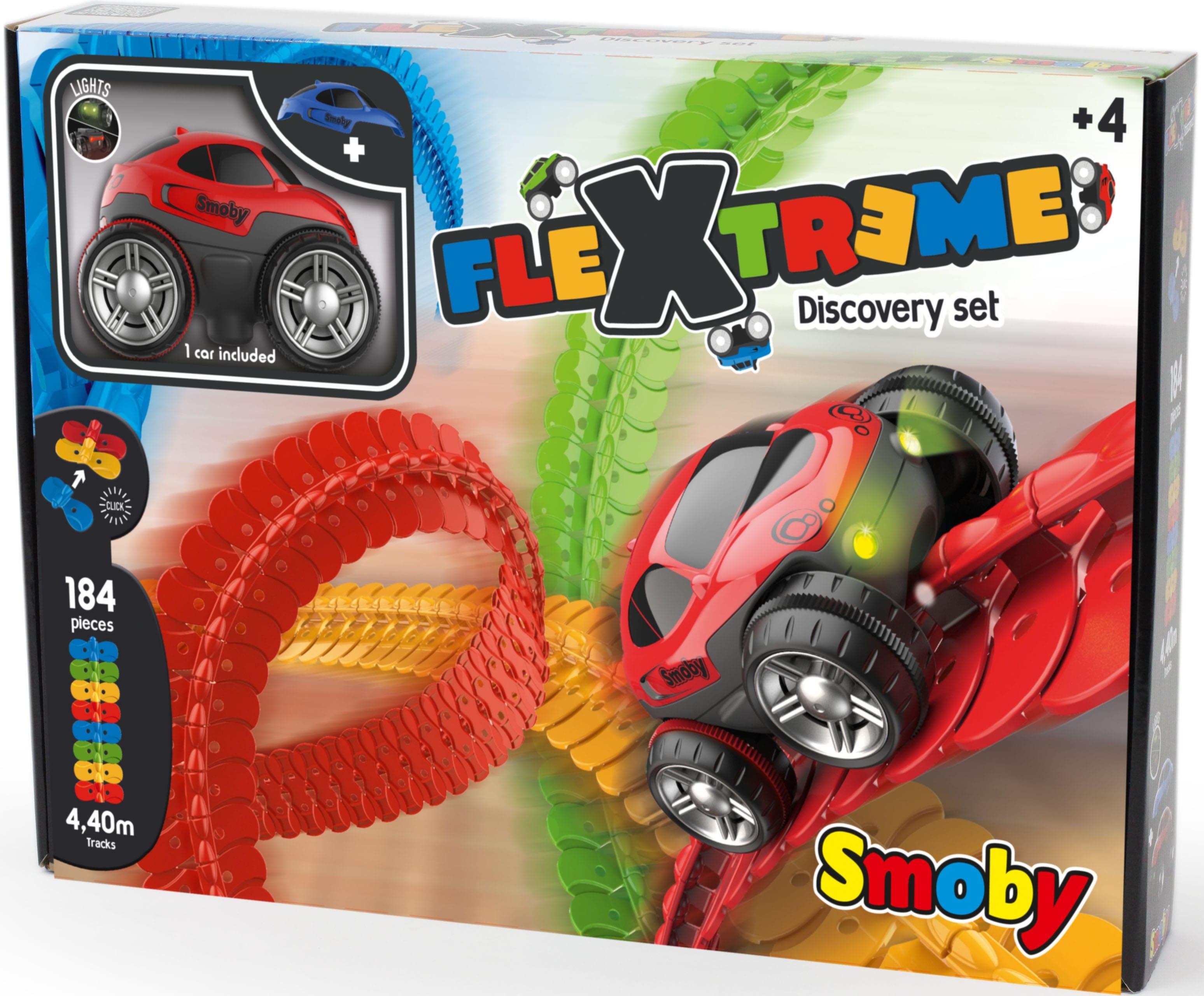 Smoby Autorennbahn Flextreme Starter-Set, (Set) bunt Kinder Autorennbahnen Autos, Eisenbahn Modellbau