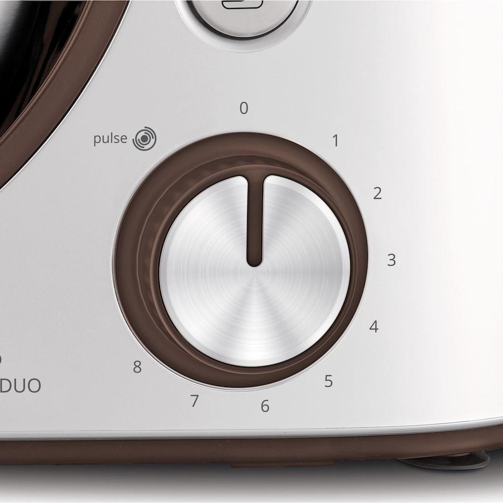 Krups Küchenmaschine »Master Perfect Duo KA51K1«, 1100 W, 4,6 l Schüssel, Backen mit Kindern; 8 Geschwindigkeiten und Pulse-Funktion; 4,6L Edelstahl-Schüssel; Flex-Whisk-Technologie; Kinder-Backset