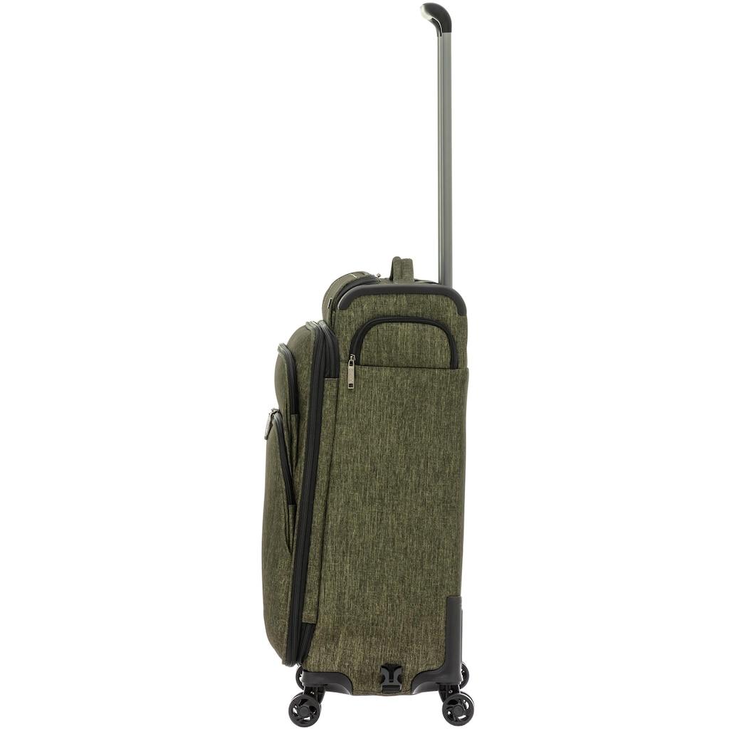 Stratic Weichgepäck-Trolley »Maxcap S, khaki«, 4 Rollen