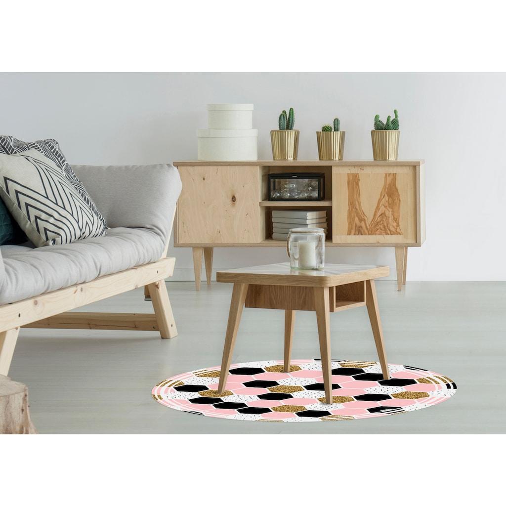 MYSPOTTI Packung: Vinylbodenmatte »Vania«, rund, wasserfest und statisch haftend