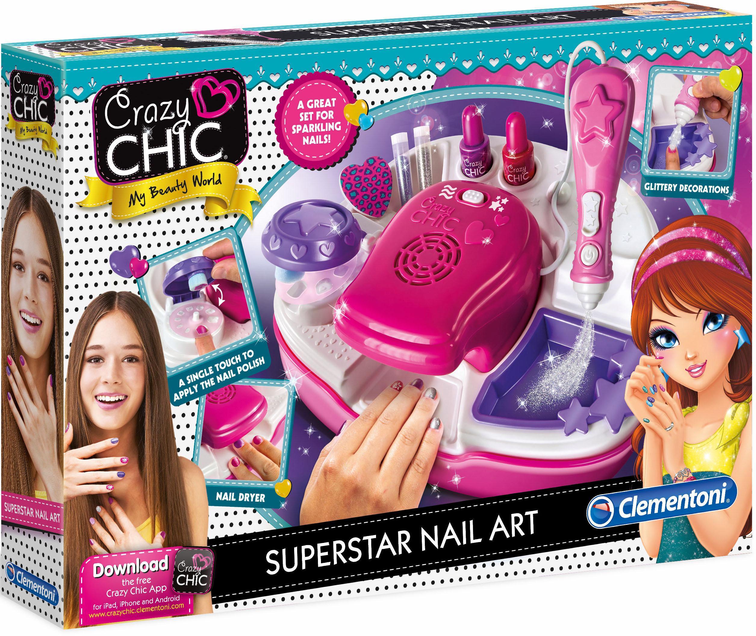 """Clementoni Kreativset """"Crazy Chic Superstar Nageldesign"""" (Set) Technik & Freizeit/Spielzeug/Altersempfehlung/Ab 6-8 Jahren"""