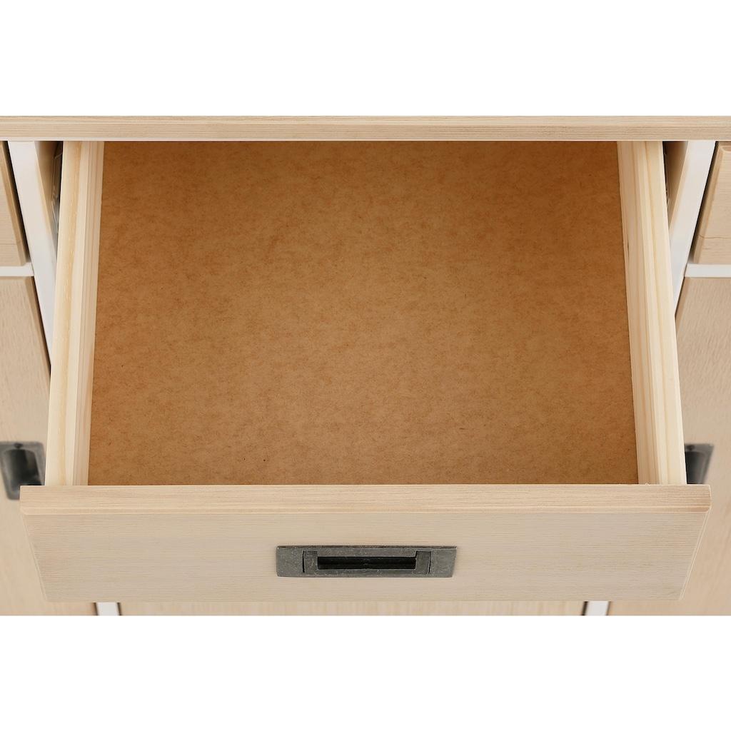 Home affaire Sideboard »Sansibar«, aus schönem massivem Kiefernholz, Breite 125 cm