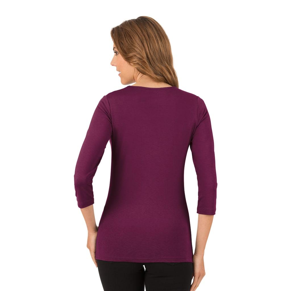 Trigema Shirt aus Viskose 3/4-Ärmel