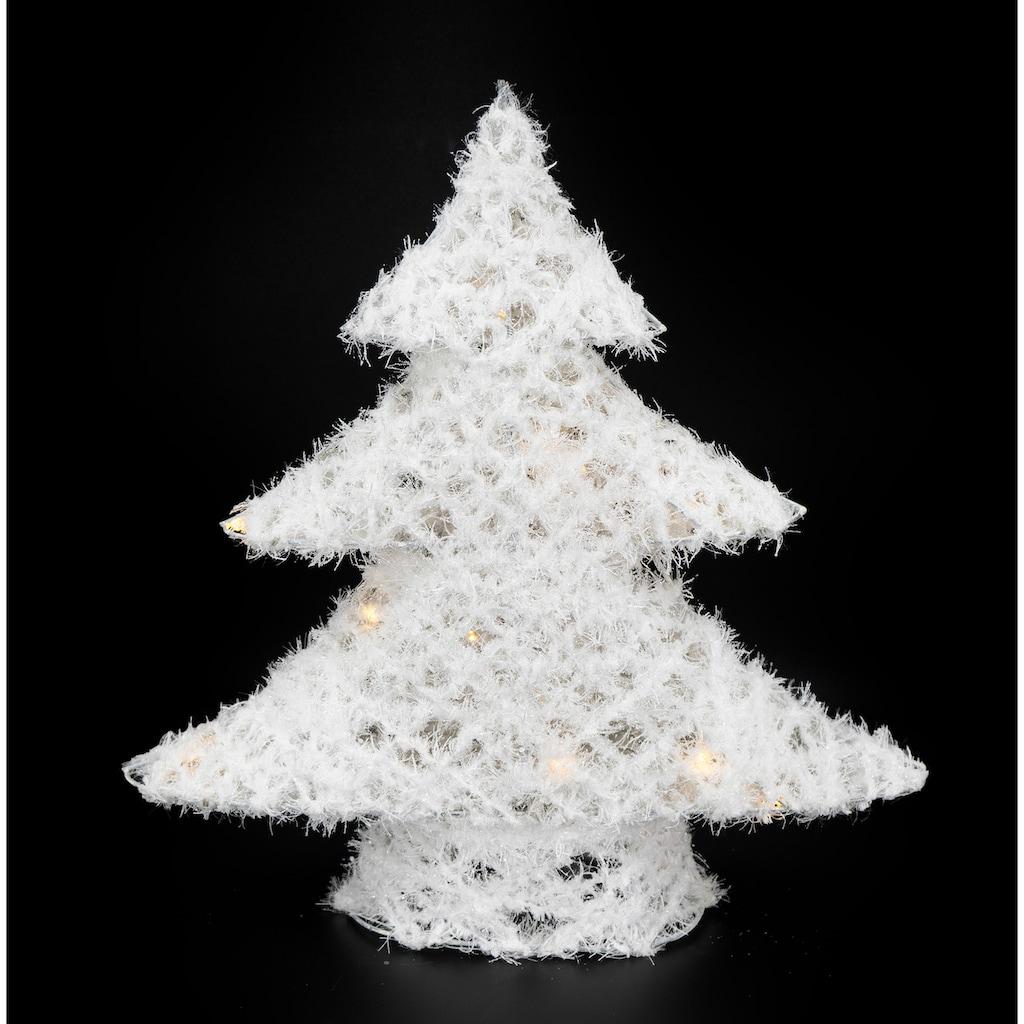 NOOR LIVING LED Baum »Tannenbaum«, mit Schnee, Batteriebetrieb, Höhe 40 cm