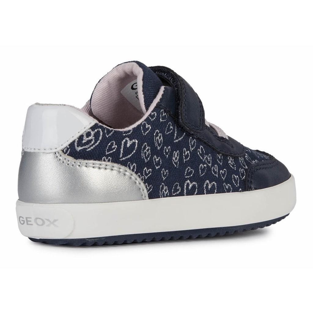 Geox Kids Sneaker »GISLI GIRL«, mit schimmernden Metallic-Details