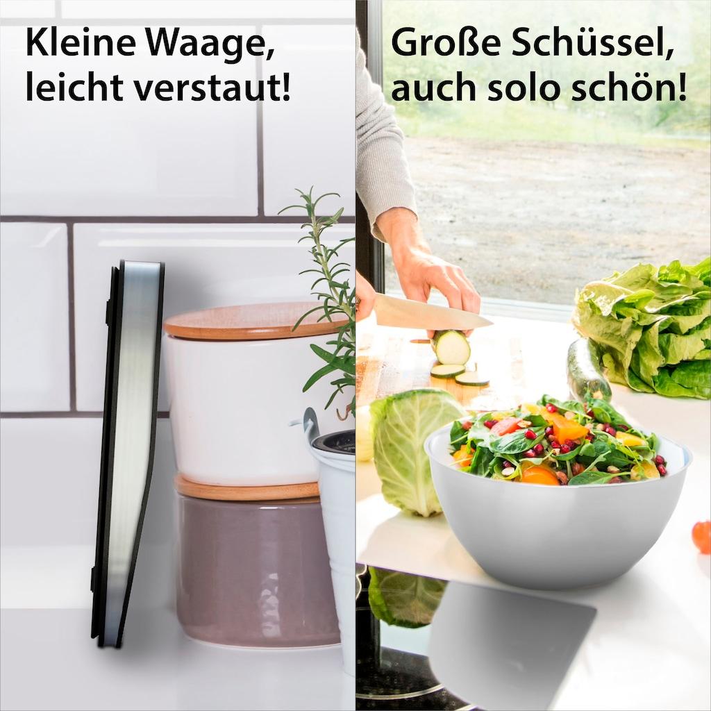 ADE Küchenwaage »KE1912 Tosca«, digitale Schüsselwaage aus Edelstahl