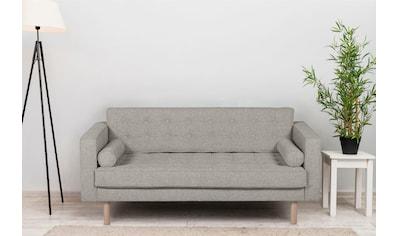 GEPADE 2-Sitzer, Breite 160 cm, inkl. 2 Kissenrollen, mit buchefarbenen Holzfüßen kaufen