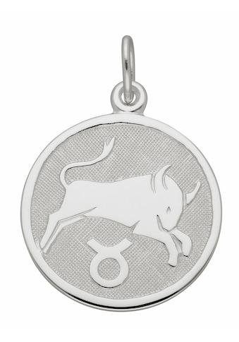 Adelia´s Kettenanhänger »925 Silber Sternzeichen Anhänger Stier Ø 15,7 mm« kaufen