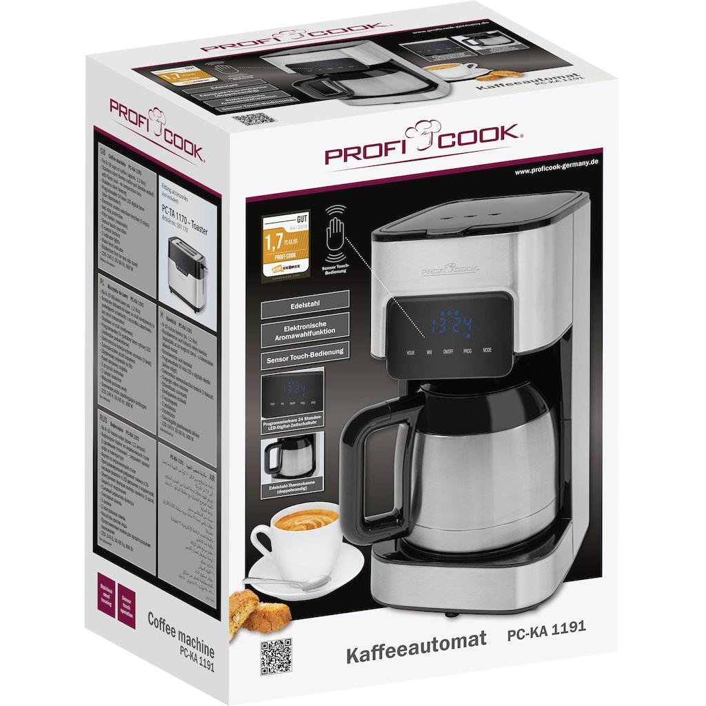 ProfiCook Filterkaffeemaschine PC-KA 1191, Papierfilter 1x4