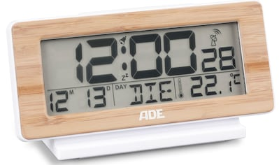 ADE Funkwecker »CK 1940«, digitale Uhr mit Raumtemperatur, Datum, Bambus-Rahmen kaufen