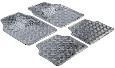 WALSER Autogummimatte »Metallic Riffelblech look«, (4 - tlg.) kaufen