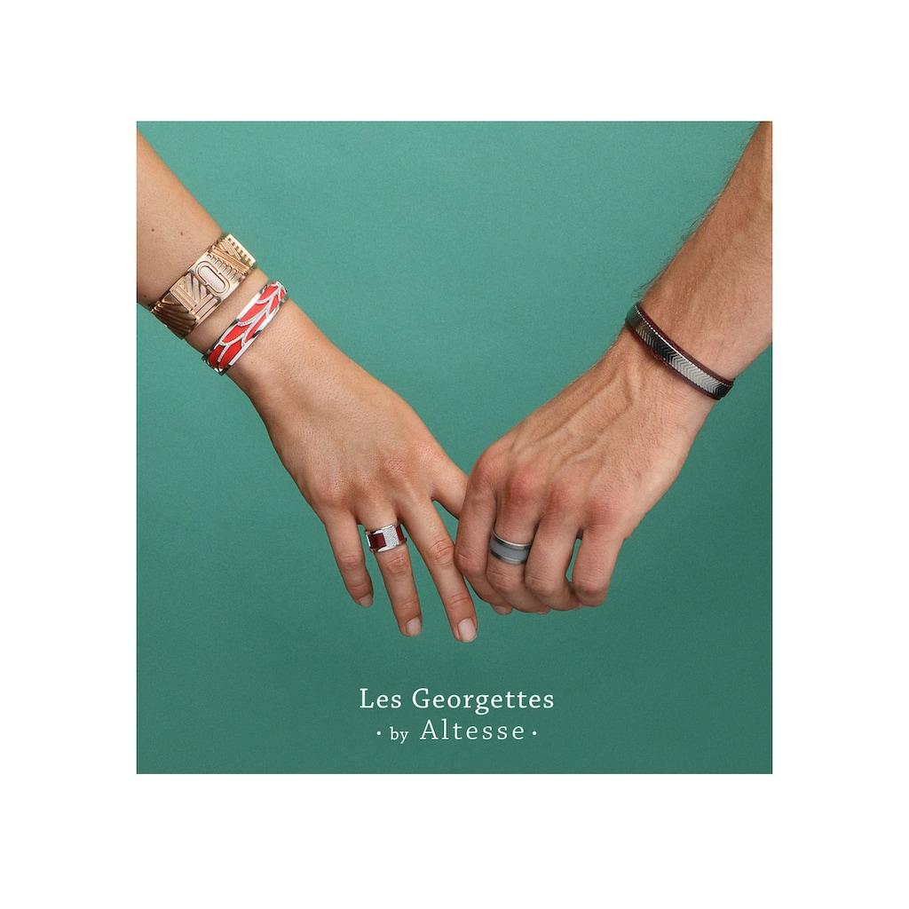 Les Georgettes Armband Set »LOVE, ROSÉGOLD-WEINROT, LOVR25-DJ«, (Set, 2 tlg.), mit Ledereinsatz