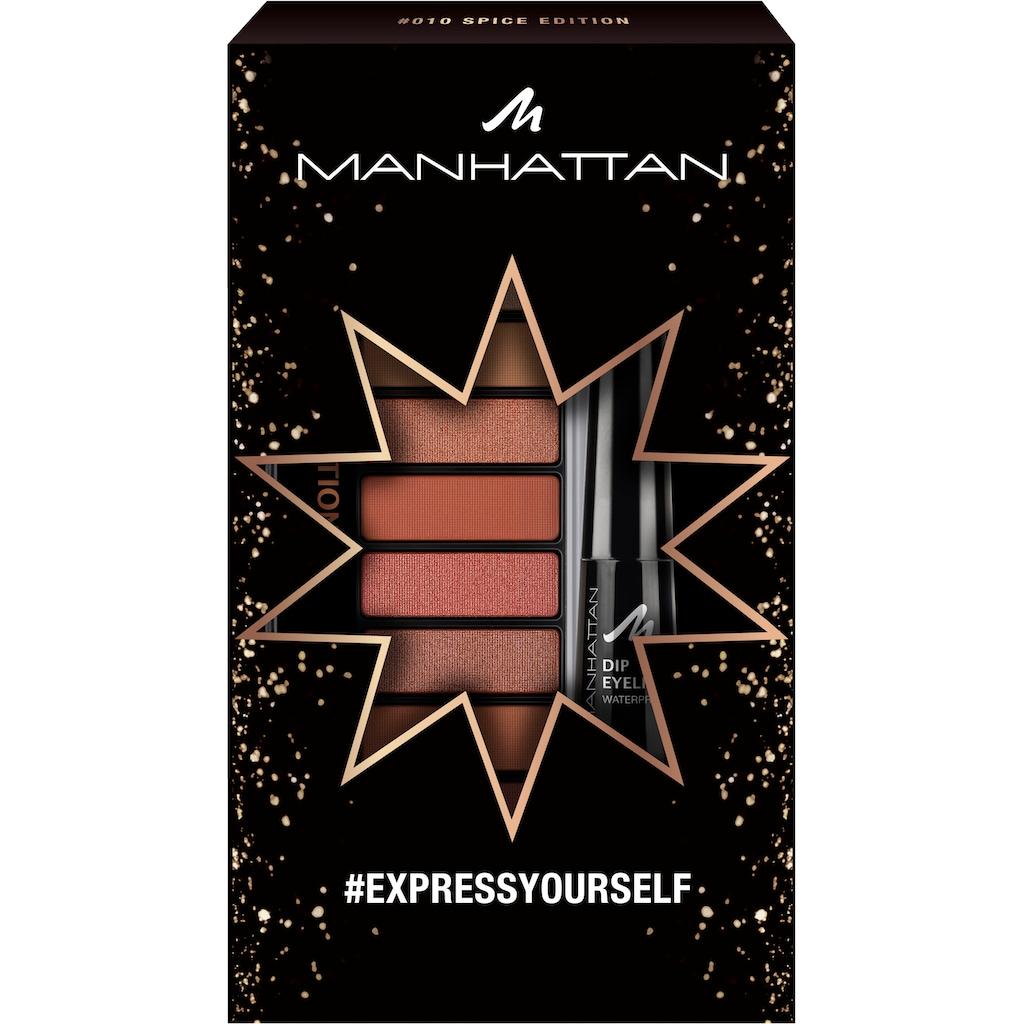 MANHATTAN Augen-Make-Up-Set »Eyemazing Palette + Dip Eyeliner Waterproof«, (2 tlg.)