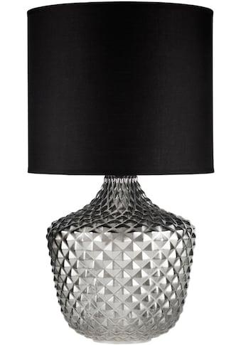 Pauleen Tischleuchte »Brilliant Jewel«, E27, 1 St., Stoffschirm, Rauchglas Schwarz kaufen