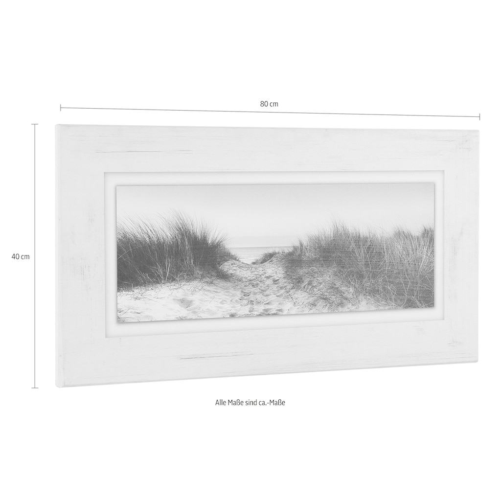 Home affaire Holzbild »Düne«, 80/40 cm