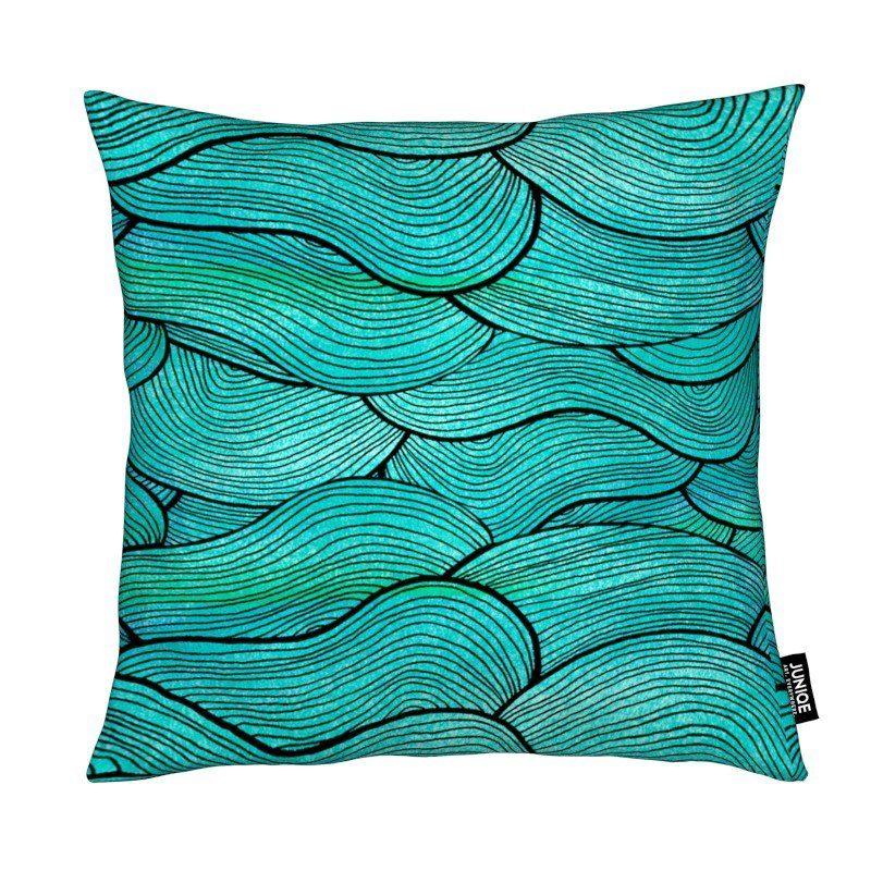 Dekokissen Sea Waves Pattern Juniqe