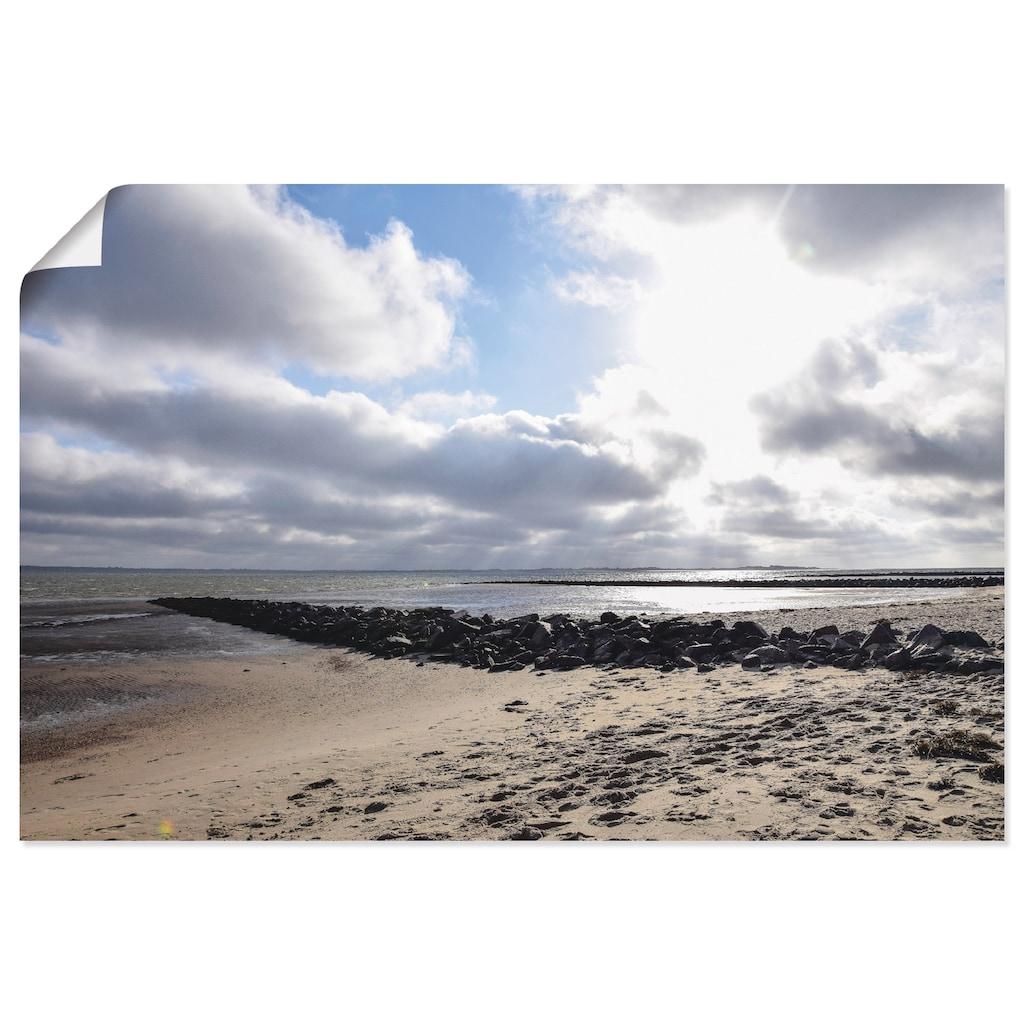 Artland Wandbild »Sonnenuntergang auf der Insel Föhr«, Strand, (1 St.), in vielen Größen & Produktarten - Alubild / Outdoorbild für den Außenbereich, Leinwandbild, Poster, Wandaufkleber / Wandtattoo auch für Badezimmer geeignet