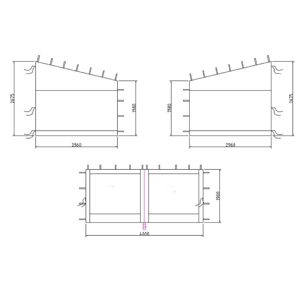 Quick Star Pavillonseitenteile, für Modell Romana 300x400 cm