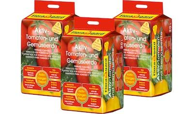 FLORAGARD Tomaten -  und Gemüseerde »Aktiv«, 3x20 Liter kaufen