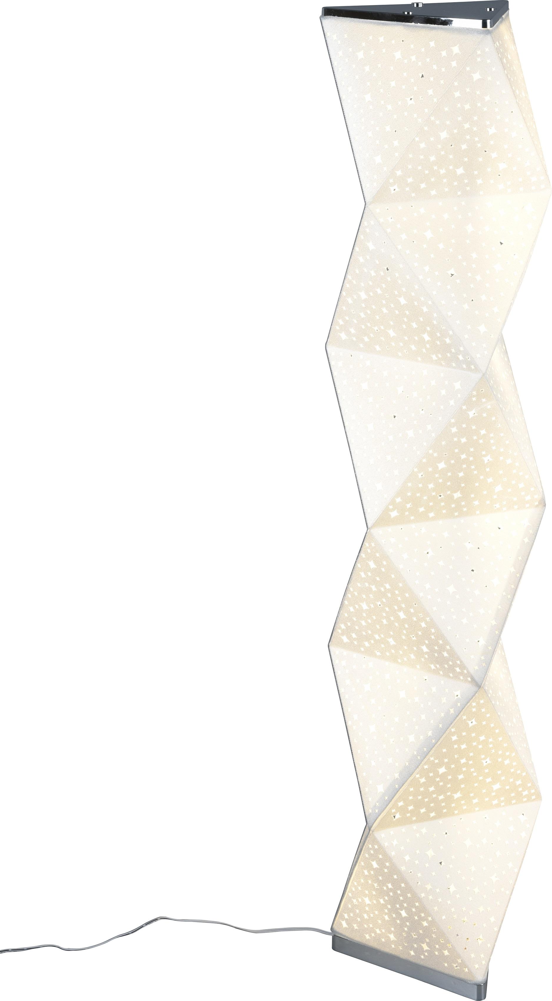 TRIO Leuchten LED Stehlampe SUMA, LED Stehleuchte mit Fußschalter, LED-Modul, 1 St., Warmweiß, inkl. Fernbedienung, integrierter Dimmer, RGBW-Farbwechsler, Memory Funktion über Fernbedienung