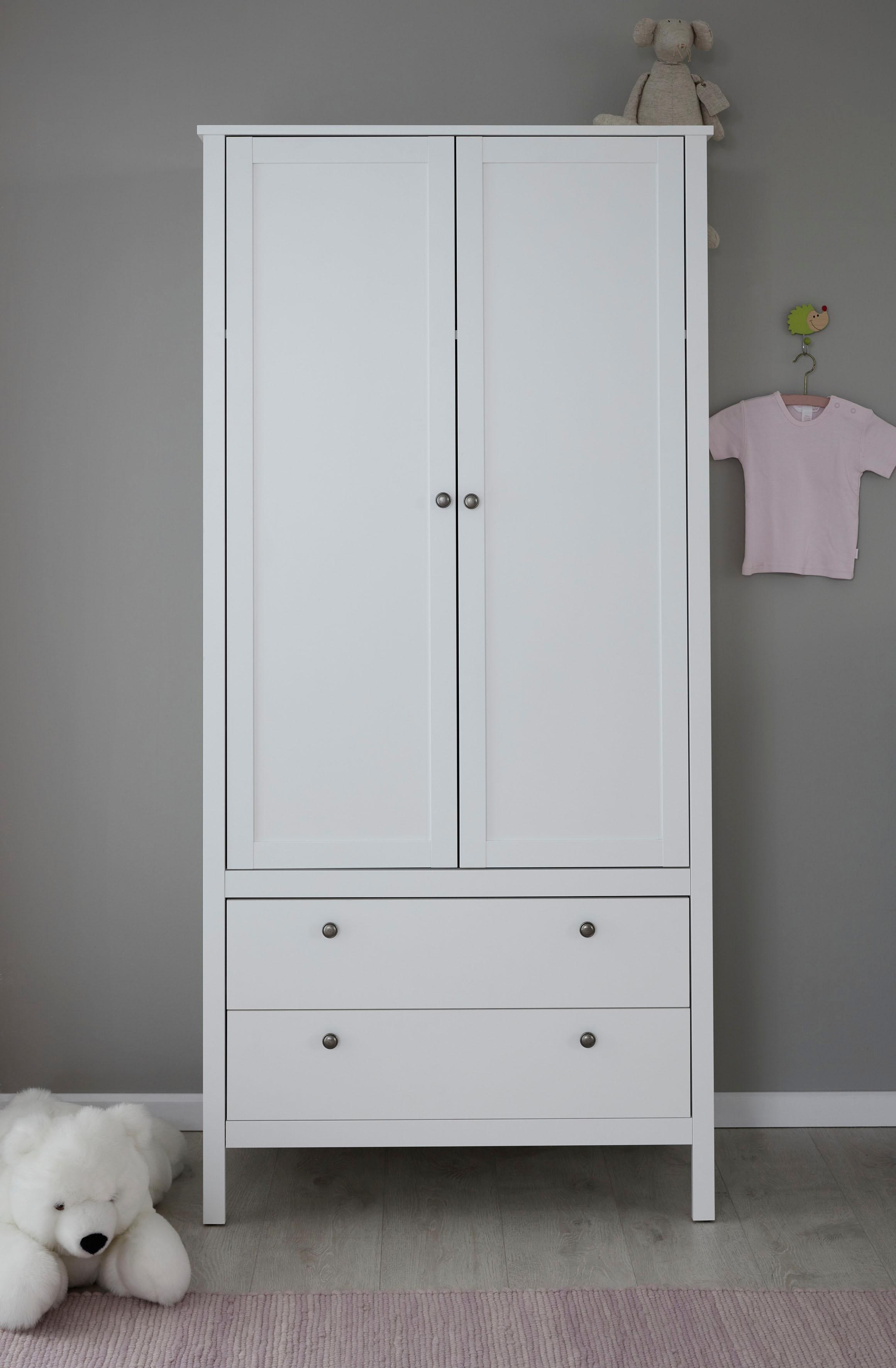 trendteam Kinderkleiderschrank Ole | Kinderzimmer > Kinderzimmerschränke | Weiß | Melamin - Holz | Trendteam