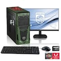"Hyrican PC Ryzen 5 3400G, Radeon RX Vega 11 + 61 cm (24"") TFT »Multimedia PC SET1898«"