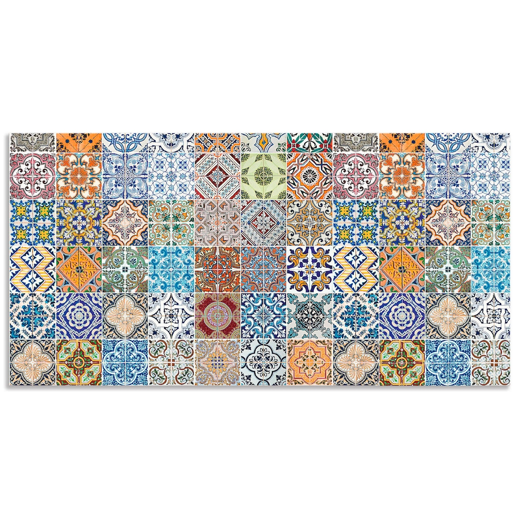 Artland Küchenrückwand »Gemusterte Keramikfliesen«