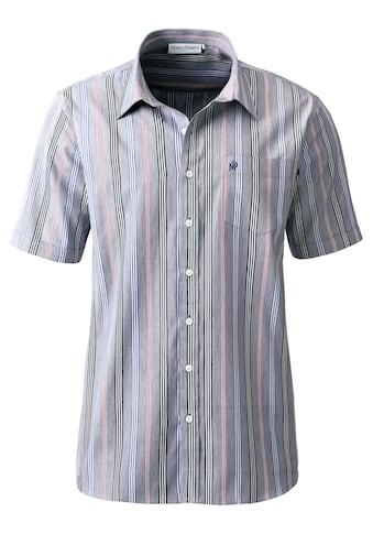 Marco Donati Kurzarm - Hemd im hochwertig garngefärbten Streifen - Muster kaufen