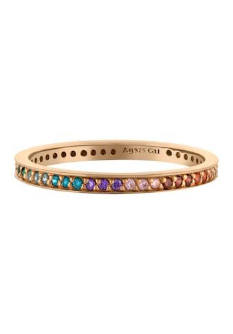 CAÏ Fingerring »925/ -  Sterling Silber vergoldet Zirkonia Rainbow« kaufen