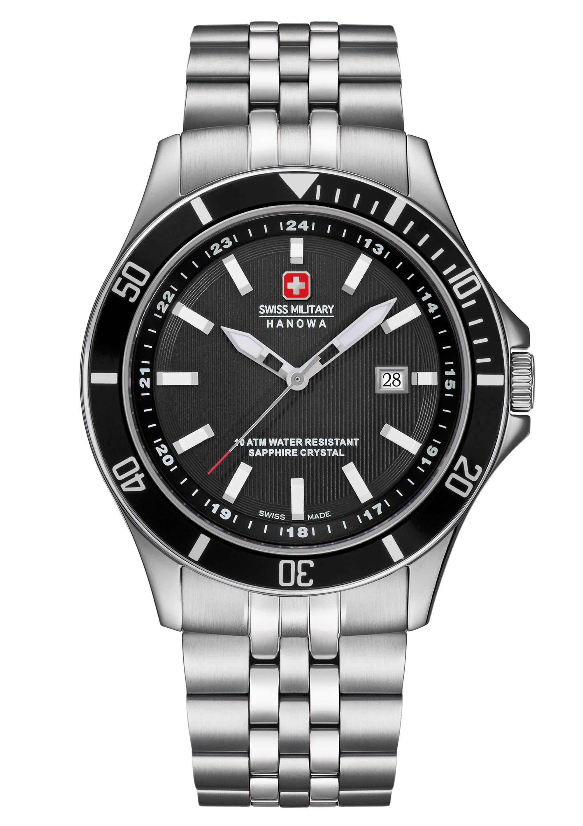Swiss Military Hanowa Schweizer Uhr »FLAGSHIP, 06-5161.2.04.007« | Uhren > Schweizer Uhren | SWISS MILITARY HANOWA