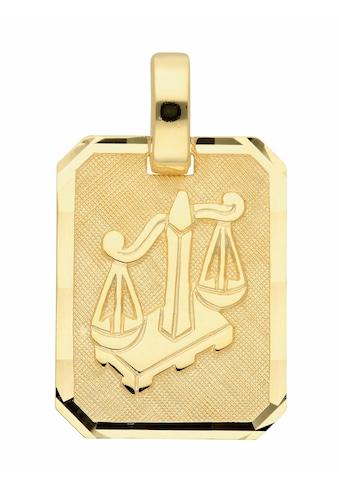 Adelia´s Kettenanhänger »333 Gold Sternzeichen Anhänger Waage«, Goldschmuck für Damen... kaufen