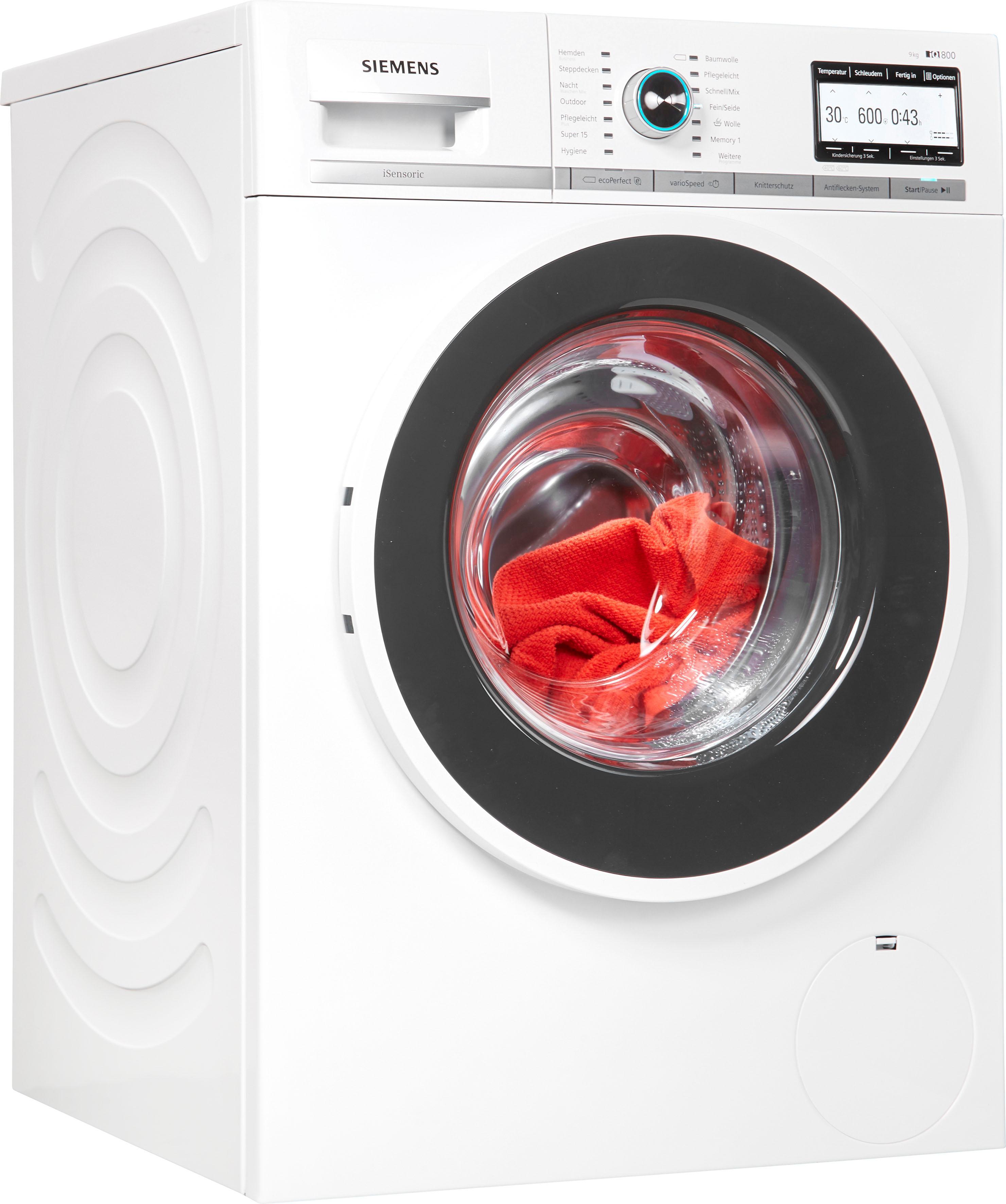 SIEMENS Waschmaschine iQ800 WM14Y7TT9   Bad > Waschmaschinen und Trockner > Frontlader   Weiß   Siemens