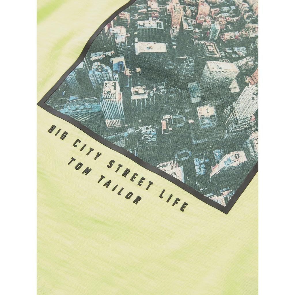 TOM TAILOR Sweater »Langarmshirt mit Print«