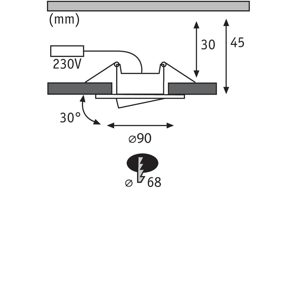 Paulmann LED Einbaustrahler »schwenkbar Weiß matt Calla rund 10x6,5W«, 10 St., Neutralweiß
