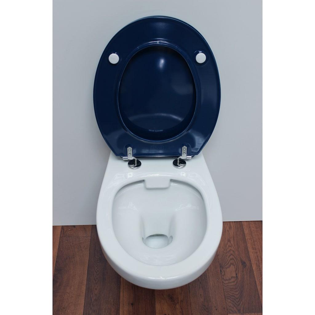 ADOB WC-Sitz »Limone Manhattan«, sehr stabil, Edelstahlscharniere