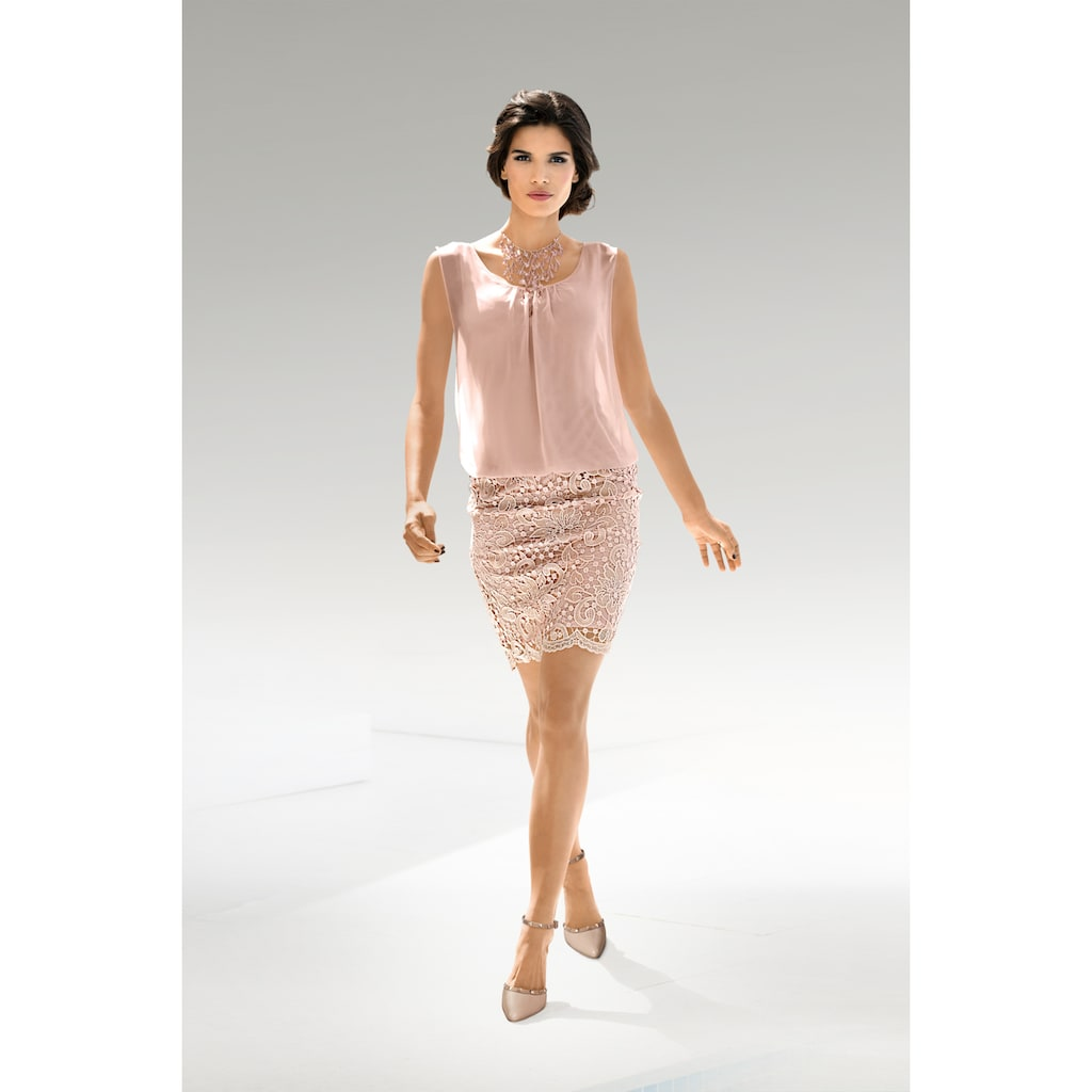 PATRIZIA DINI by Heine Spitzenkleid, 2-in-1-Optik