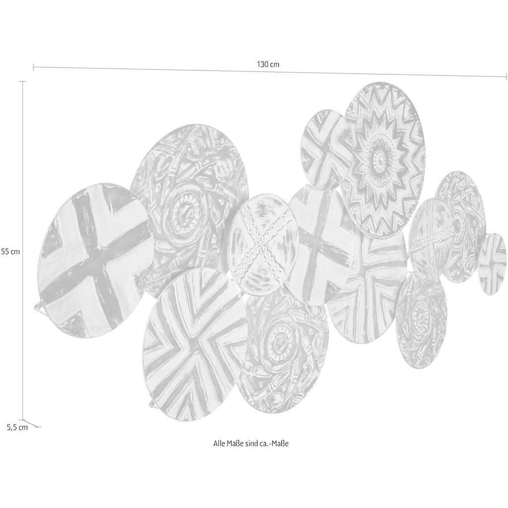 Home affaire Wanddekoobjekt, Wanddeko, aus Metall, im Ethno-Look