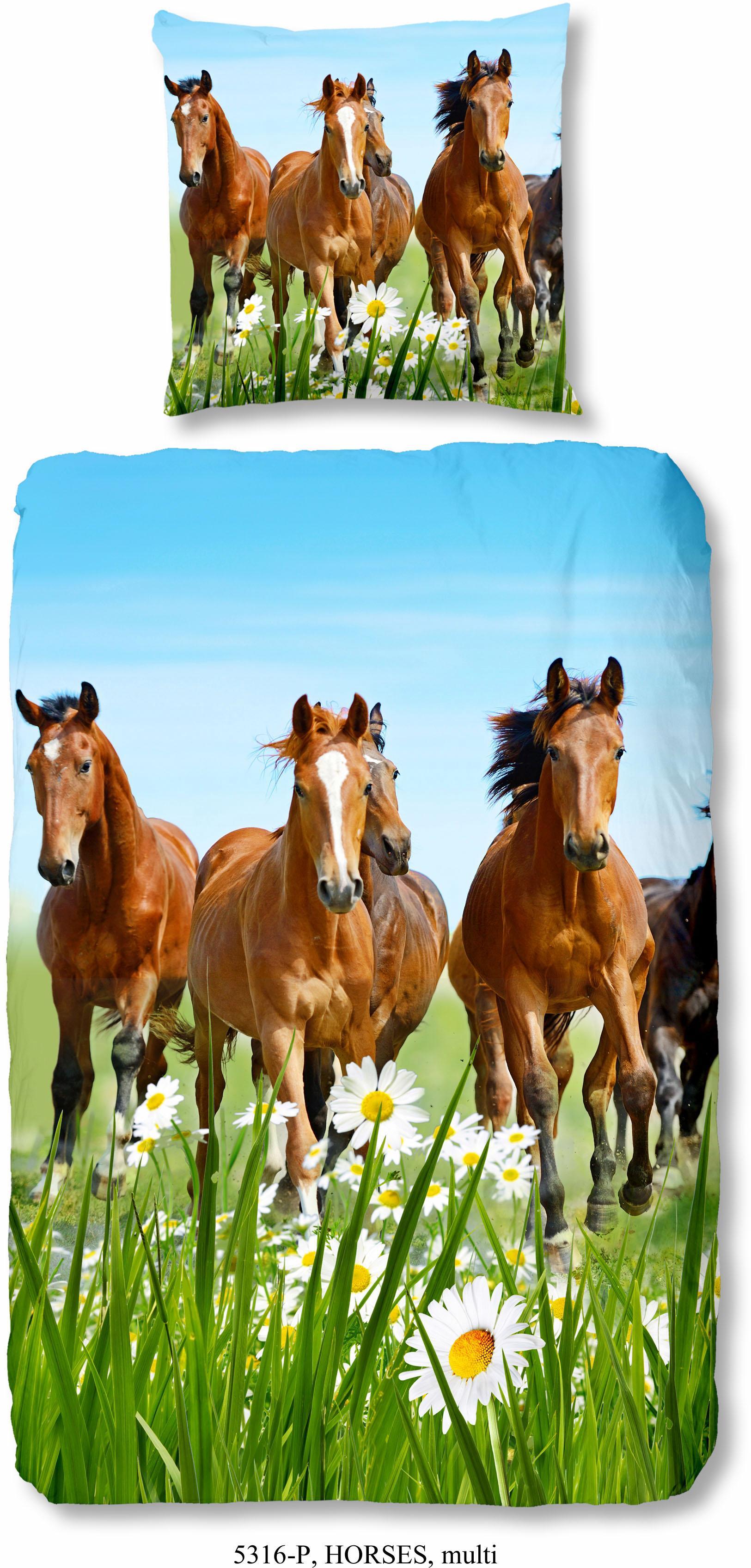 Kinderbettwäsche Horses good morning