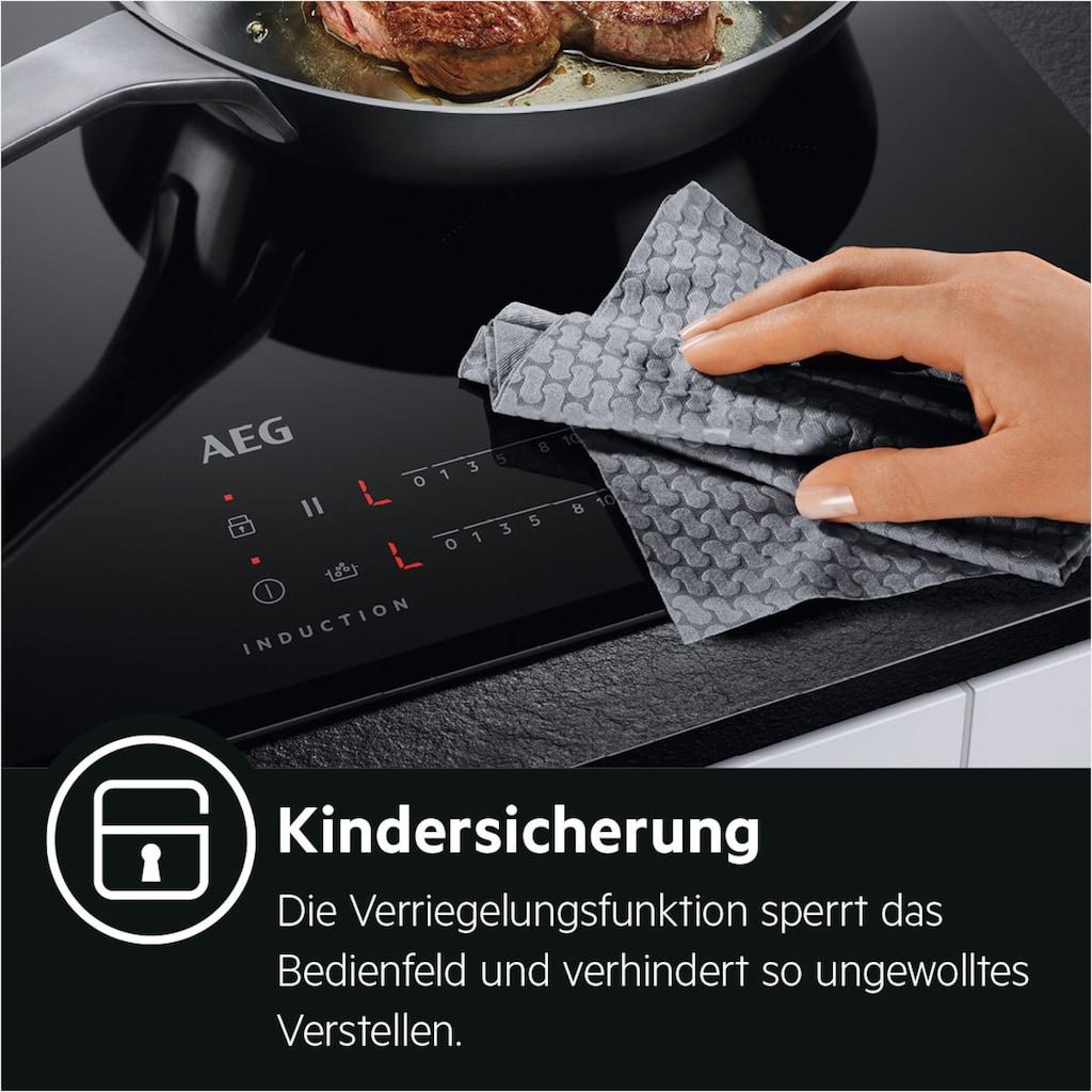 AEG Induktions-Kochfeld »IAE84431XB«, IAE84431XB, SenseFry - Bratsensor