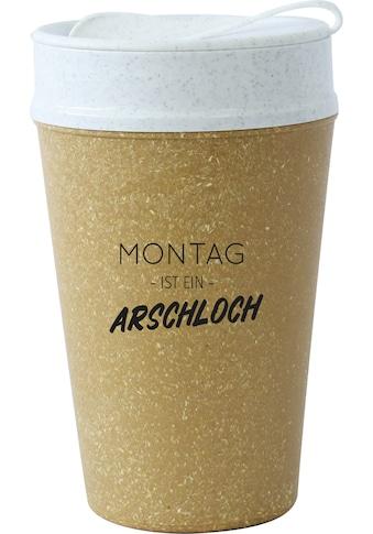 KOZIOL Coffee-to-go-Becher »ISO TO GO MONTAG IST…«, (1 tlg.), 100% biobasiertes... kaufen
