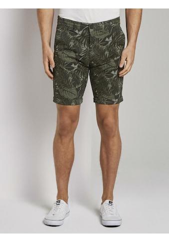 TOM TAILOR Denim Shorts »Chino Shorts mit ganzflächigem Muster« kaufen