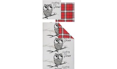 my home Wendebettwäsche »Owl«, mit süßer Eule kaufen