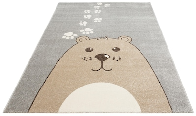 Lüttenhütt Kinderteppich »Bear«, rechteckig, 14 mm Höhe, Bären-Motiv, Kinderzimmer kaufen